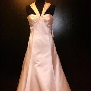 Romona Keveza Silk wedding gown
